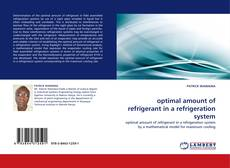 Bookcover of optimal amount of refrigerant in a refrigeration system