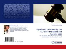 Capa do livro de Equality of treatment by the ECJ since the Marks and Spencer case