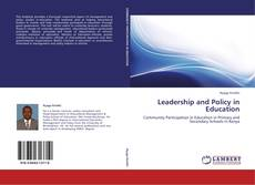 Buchcover von Leadership and Policy in Education