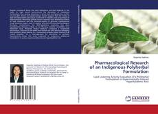 Copertina di Pharmacological Research of an Indigenous Polyherbal Formulation