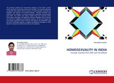 Bookcover of HOMOSEXUALITY IN INDIA