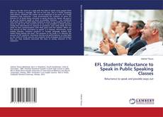 Capa do livro de EFL Students' Reluctance to Speak in Public Speaking Classes
