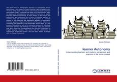 Bookcover of learner Autonomy