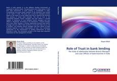 Buchcover von Role of Trust in bank lending