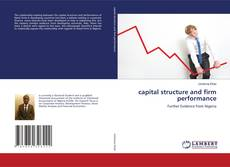 capital structure and firm performance kitap kapağı
