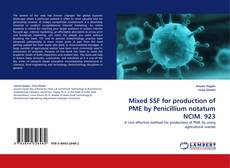 Capa do livro de Mixed SSF for production of PME by Penicillium notatum NCIM. 923