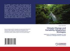 Climate Change and Variability Adaptation Strategies kitap kapağı