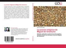 La poesia religiosa de Miguel de Unamuno kitap kapağı