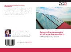 Portada del libro de Aprovechamiento solar térmico en invernaderos