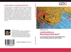 Bookcover of ¿Indivisibles e Interdependientes?