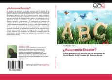 ¿Autonomía Escolar? kitap kapağı