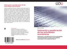 Portada del libro de Valoración y ponderación de las actividades económicas