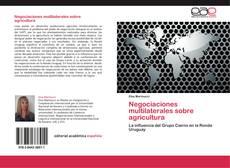 Portada del libro de Negociaciones multilaterales sobre agricultura