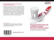 Capa do livro de Programa Educativo de salud bucal para escolares adolescentes