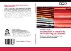 Capa do livro de Descripción y análisis de la cultura organizacional