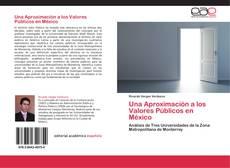 Capa do livro de Una Aproximación a los Valores Públicos en México