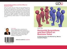 Bookcover of Horizontal Acquisitions and their Effect on Business Value