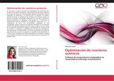 Capa do livro de Optimización de reactores químicos