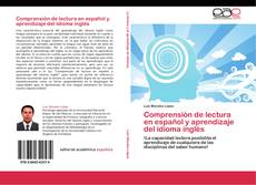 Buchcover von Comprensión  de  lectura  en español y aprendizaje del idioma inglés