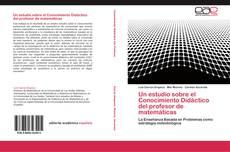 Capa do livro de Un estudio sobre el Conocimiento Didáctico del profesor de matemáticas