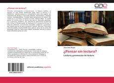 Bookcover of ¿Pensar sin lectura?