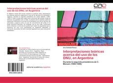Buchcover von Interpretaciones teóricas acerca del uso de los DNU, en Argentina