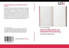 Capa do livro de Cesare Beccaria y el Derecho Penal de hoy