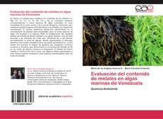 Capa do livro de Evaluación del contenido de metales en algas marinas de Venezuela
