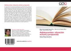 Portada del libro de Adolescentes: situación actual y propuesta