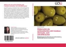 Portada del libro de Obtención de antioxidantes del residuo olivícola, con ultrafiltración