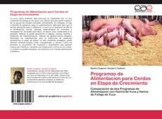 Capa do livro de Programas de Alimentacion para Cerdos en Etapa de Crecimiento