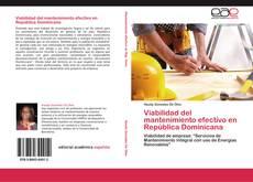 Portada del libro de Viabilidad del mantenimiento efectivo en República Dominicana
