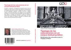 Copertina di Tipología de las colocaciones en un corpus textual jurídico