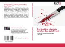 Criminalidad y justicia penal en San Luis Potosí. kitap kapağı