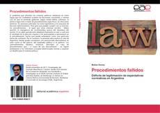 Buchcover von Procedimientos fallidos