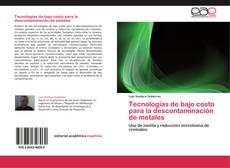 Portada del libro de Tecnologías de bajo costo para la descontaminación de metales