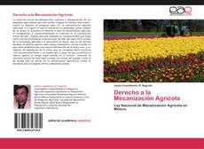 Derecho a la Mecanización Agrícola的封面