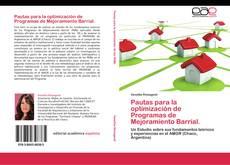 Buchcover von Pautas para la optimización de Programas de Mejoramiento Barrial.