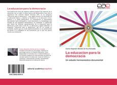 La educacion para la democracia kitap kapağı