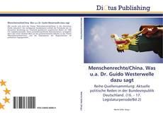 Buchcover von Menschenrechte/China. Was u.a. Dr. Guido Westerwelle dazu sagt