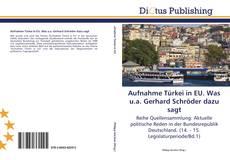 Borítókép a  Aufnahme Türkei in EU. Was u.a. Gerhard Schröder dazu sagt - hoz