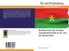 Buchcover von Burkina Faso:5e révision constitutionnelle en 21 ans de démocratie