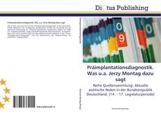 Bookcover of Präimplantationsdiagnostik. Was u.a. Jerzy Montag dazu sagt