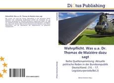 Borítókép a  Wehrpflicht. Was u.a. Dr. Thomas de Maizière dazu sagt - hoz