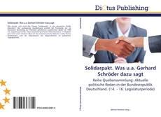 Bookcover of Solidarpakt. Was u.a. Gerhard Schröder dazu sagt