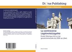 Capa do livro de La controverse Légitimité/Légalité