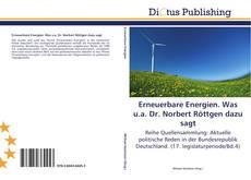 Bookcover of Erneuerbare Energien. Was u.a. Dr. Norbert Röttgen dazu sagt