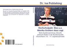 Bookcover of Hochschulpakt. Was u.a. Monika Grütters dazu sagt