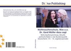 Bookcover of Nichtraucherschutz. Was u.a. Dr. Gerd Müller dazu sagt