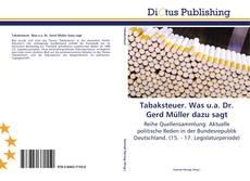 Bookcover of Tabaksteuer. Was u.a. Dr. Gerd Müller dazu sagt